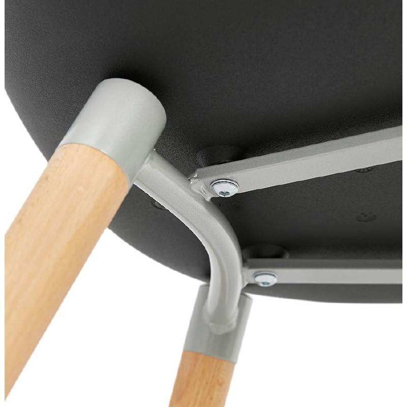 Skandinavisches Design Stuhl ANGELINA (schwarz) - image 39546