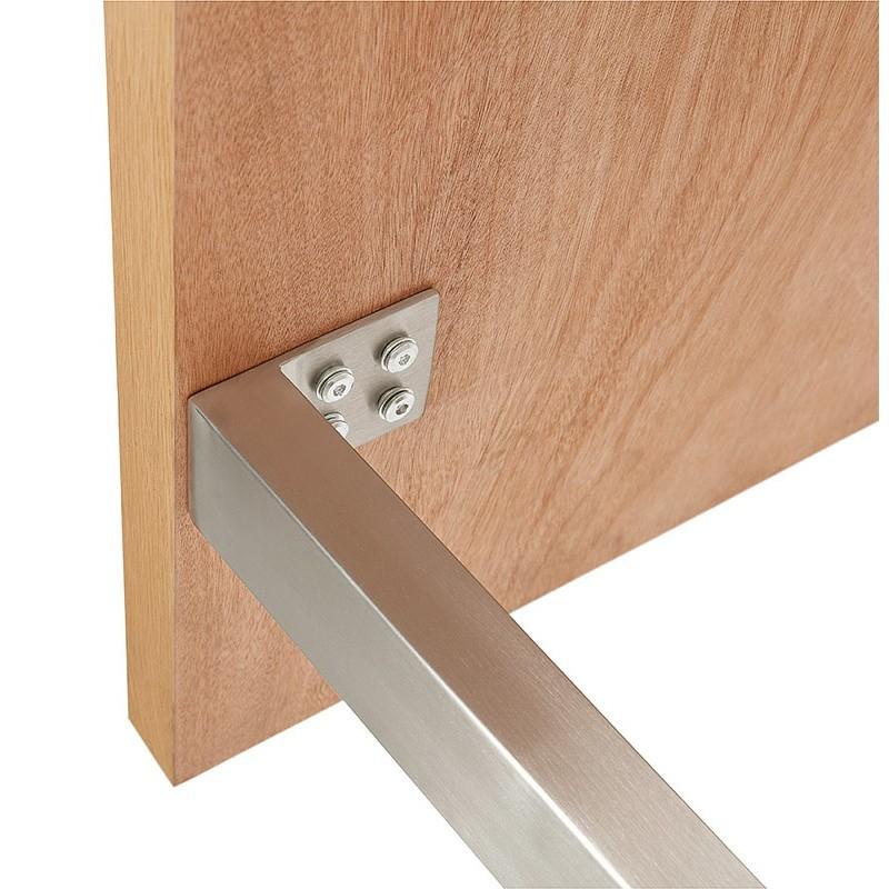 Table à manger design ou table de réunion AXELLE en bois et métal (180x90x77 cm) (naturel) - image 39660