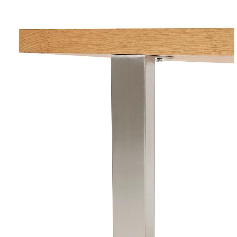 Table à manger design ou table de réunion AXELLE en bois et métal (180x90x77 cm) (naturel) - image 39661