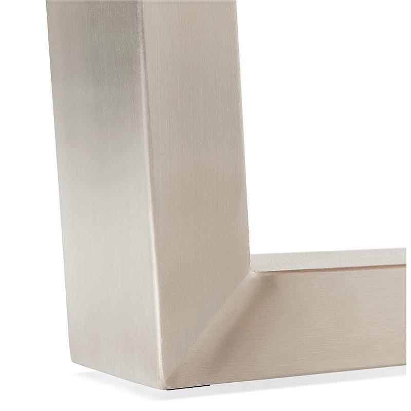 Table à manger design ou table de réunion AXELLE en bois et métal (180x90x77 cm) (naturel) - image 39663