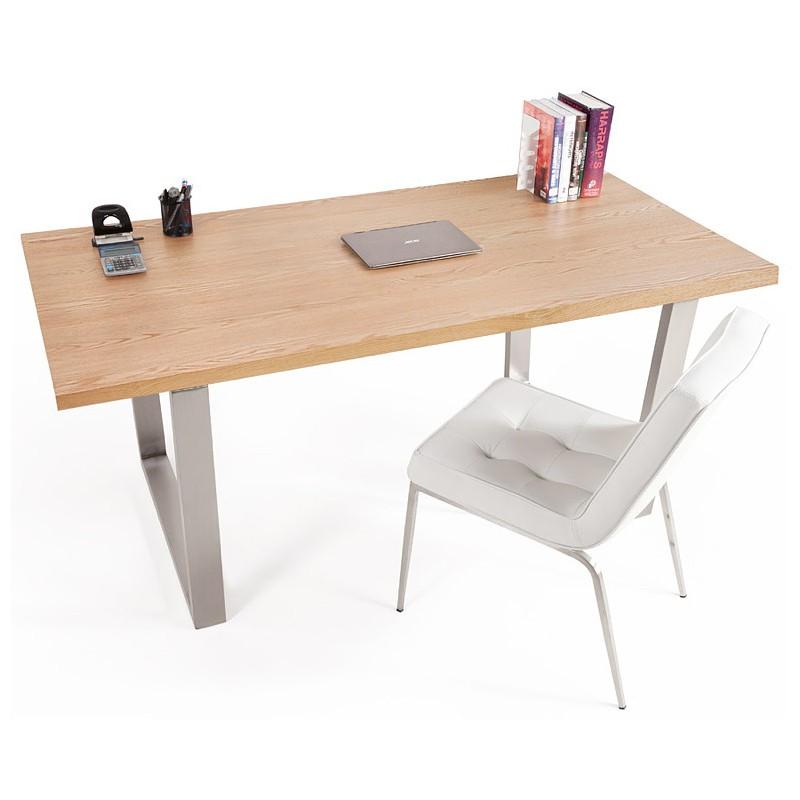 Tavolo da pranzo design o riunione tavolo AXELLE in legno e metallo ...