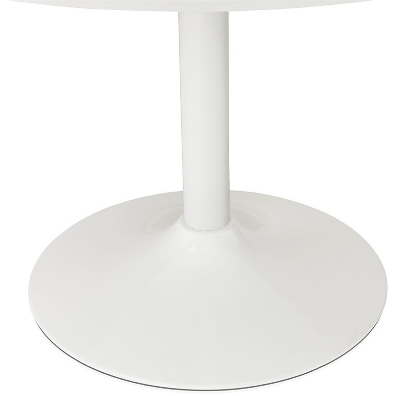 Tisch rund essen skandinavisches Design oder Büro MAUD in MDF und lackiertem Metall (Ø 90 cm) (weiß) - image 39677