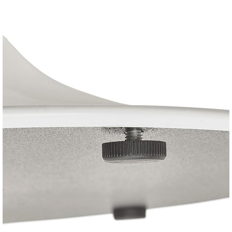 Tisch rund essen skandinavisches Design oder Büro MAUD in MDF und lackiertem Metall (Ø 90 cm) (weiß) - image 39678