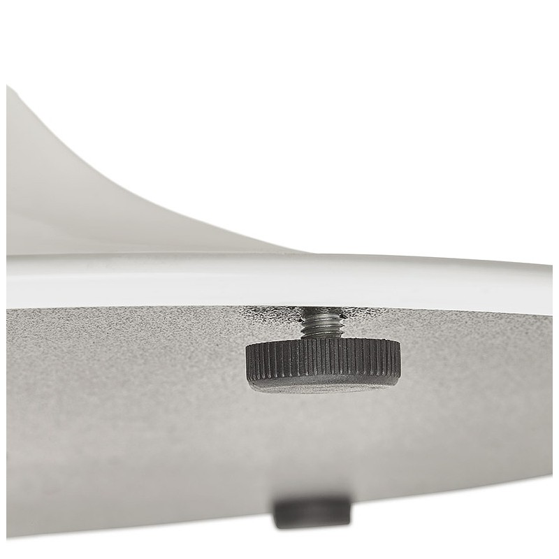 Table à manger ronde design scandinave ou bureau MAUD en MDF et métal peint (Ø 90 cm) (chêne naturel) - image 39687