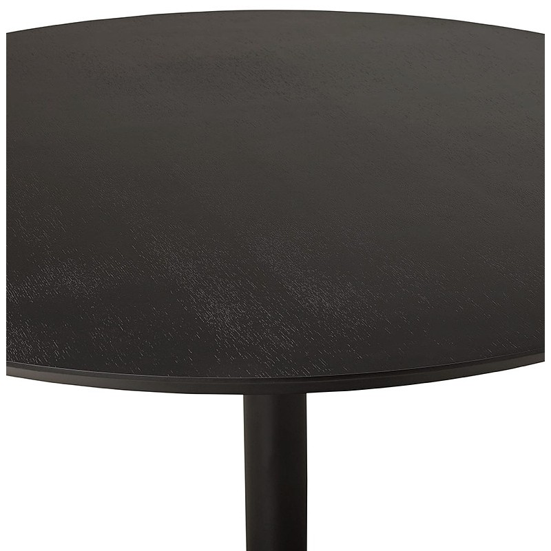 Table round dining design or Office MAUD in MDF and painted metal (Ø 90 cm) (black) - image 39701