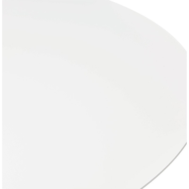 Runder Esstisch Design oder Büro MAUD in MDF und verchromtem Metall (Ø 90 cm) (weiß, Chrom) - image 39710