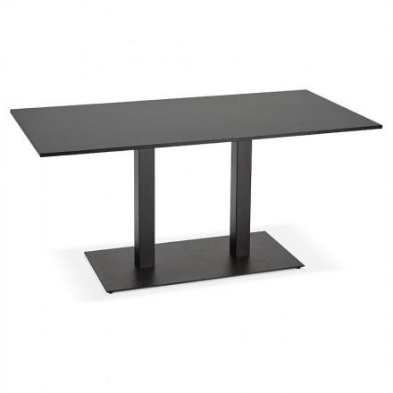 Table à manger design ou table de réunion LUCILE (160x80x75 cm) (noir)