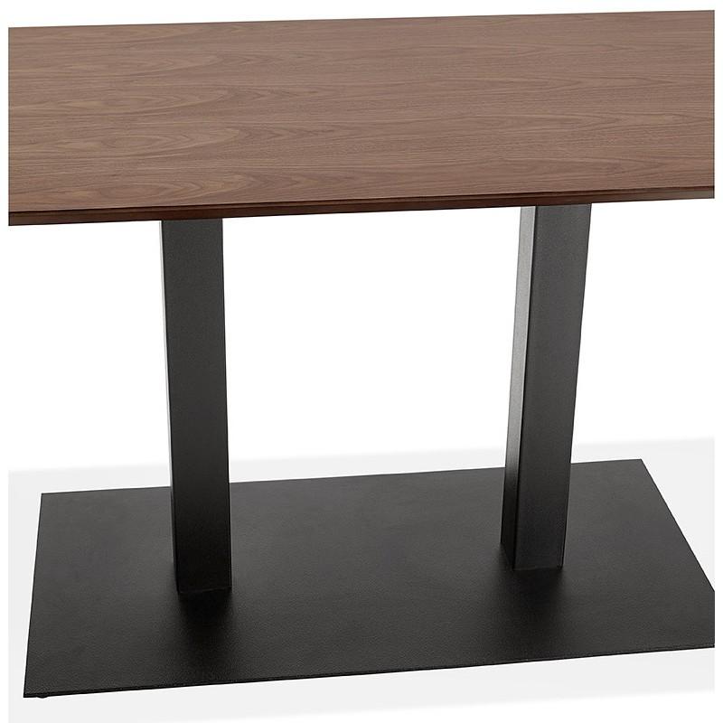 Table à manger design ou table de réunion KENZA (150x70x75 cm) (finition noyer) - image 39812