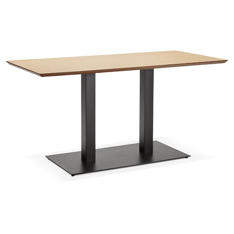 Table à manger design ou table de réunion KENZA (150x70x75 cm) (finition chêne naturel) - image 39827