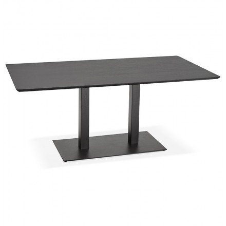 Table à manger design ou table de réunion ANDREA (180x90x75 cm) (noir)