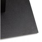 Table à manger design ou table de réunion ANDREA (180x90x75 cm) (noir)