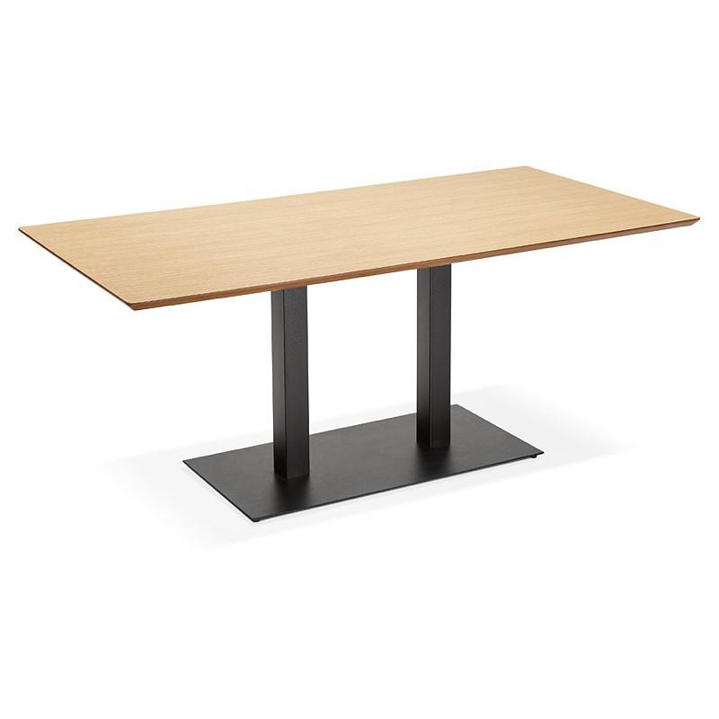 Table à manger design ou table de réunion ANDREA (180x90x75 cm) (finition chêne naturel) - image 39860