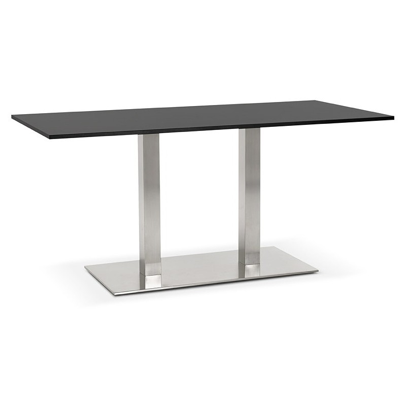 Table à manger design ou table de réunion SOLENE (160x80x75 cm) (noir)