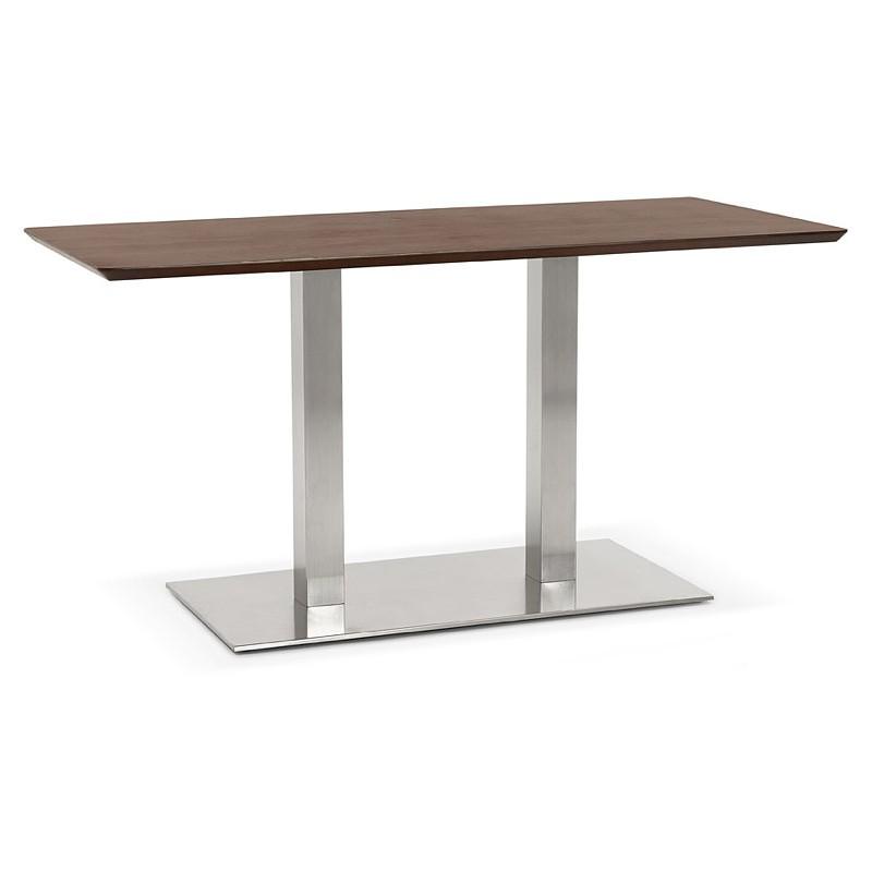 Diseño o reunión mesa de CORALIE (150 x 70 x 75 cm) (acabado en nogal)