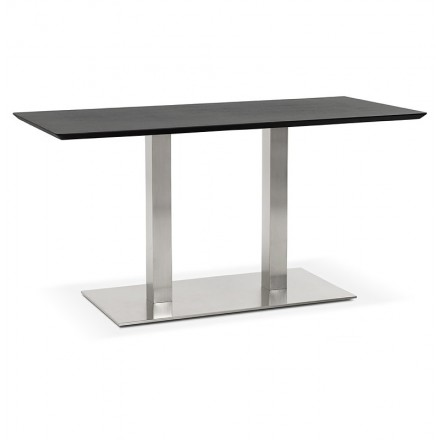 Table design or meeting table CORALIE (150 x 70 x 75 cm) (black ash finish)