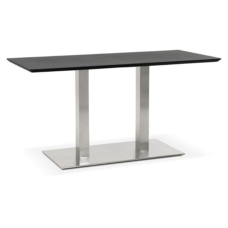 Table à manger design ou table de réunion CORALIE (150x70x75 cm) (finition frêne noir)