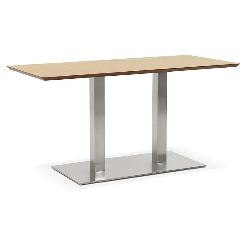 Table à manger design ou table de réunion CORALIE (150x70x75 cm) (finition chêne naturel)