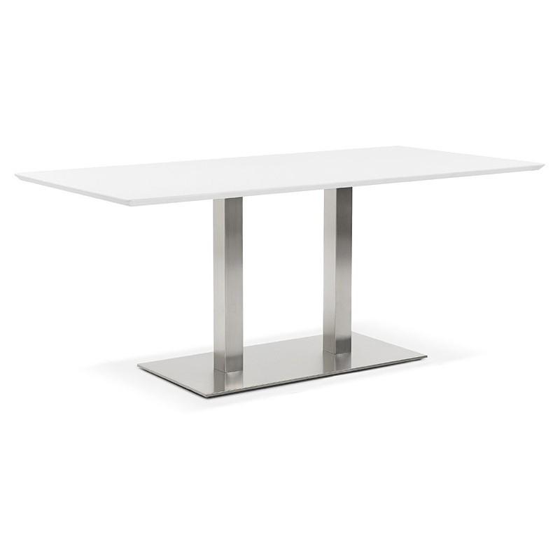 Table à manger design ou table de réunion CLAIRE (180x90x75 cm) (blanc) - image 39924
