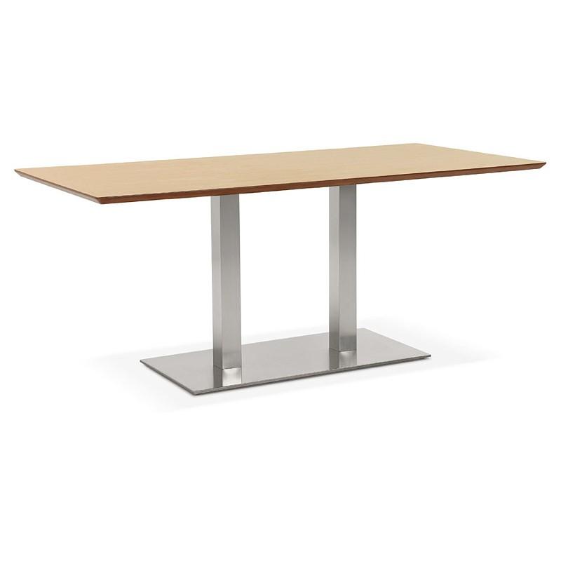 Table à manger design ou table de réunion CLAIRE (180x90x75 cm) (finition chêne naturel) - image 39950