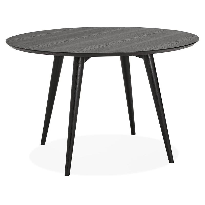 Table à manger ronde design SOFIA (Ø 120 cm) (finition frêne noir) - image 39961
