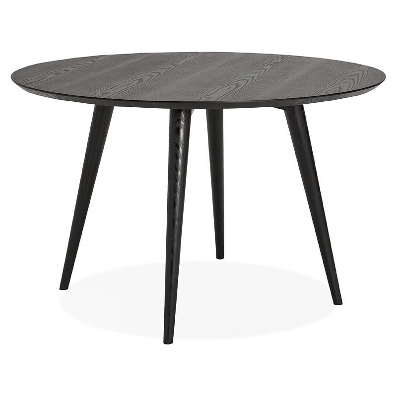 Table à manger ronde design SOFIA (Ø 120 cm) (finition frêne noir) - image 39962