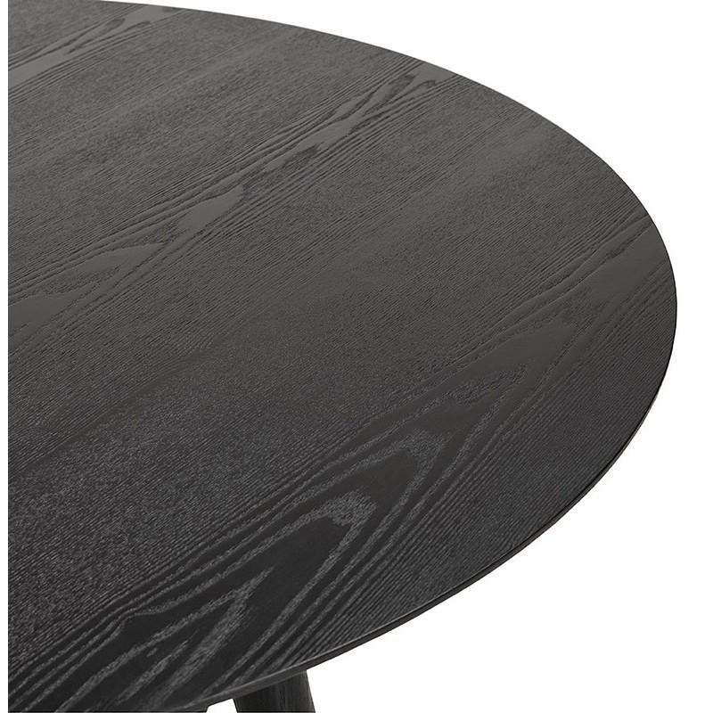 Table à manger ronde design SOFIA (Ø 120 cm) (finition frêne noir) - image 39963