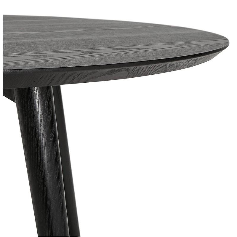 Table à manger ronde design SOFIA (Ø 120 cm) (finition frêne noir) - image 39965