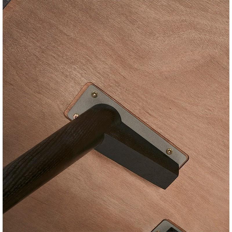 Table à manger ronde design SOFIA (Ø 120 cm) (finition frêne noir) - image 39968