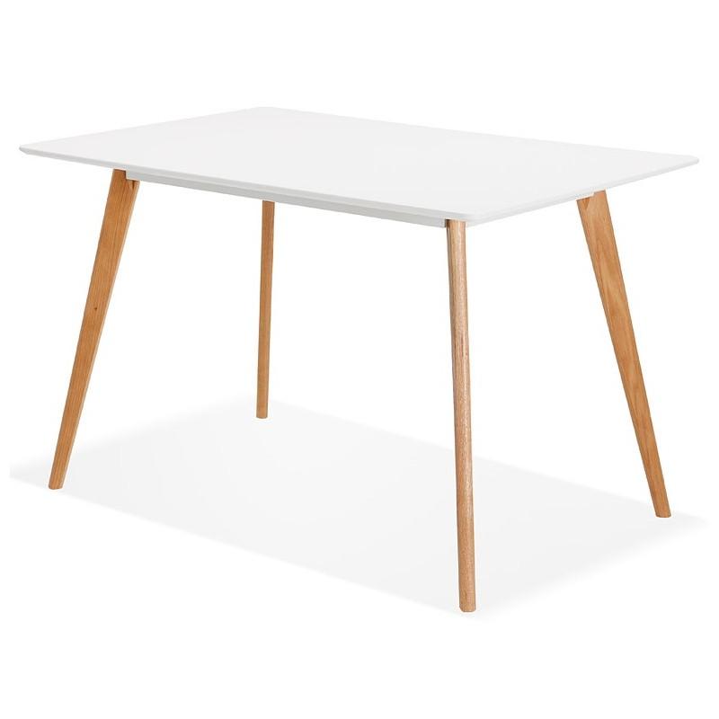 Table à manger design scandinave ou bureau MAYA (120x78x77 cm) (blanc) - image 39973