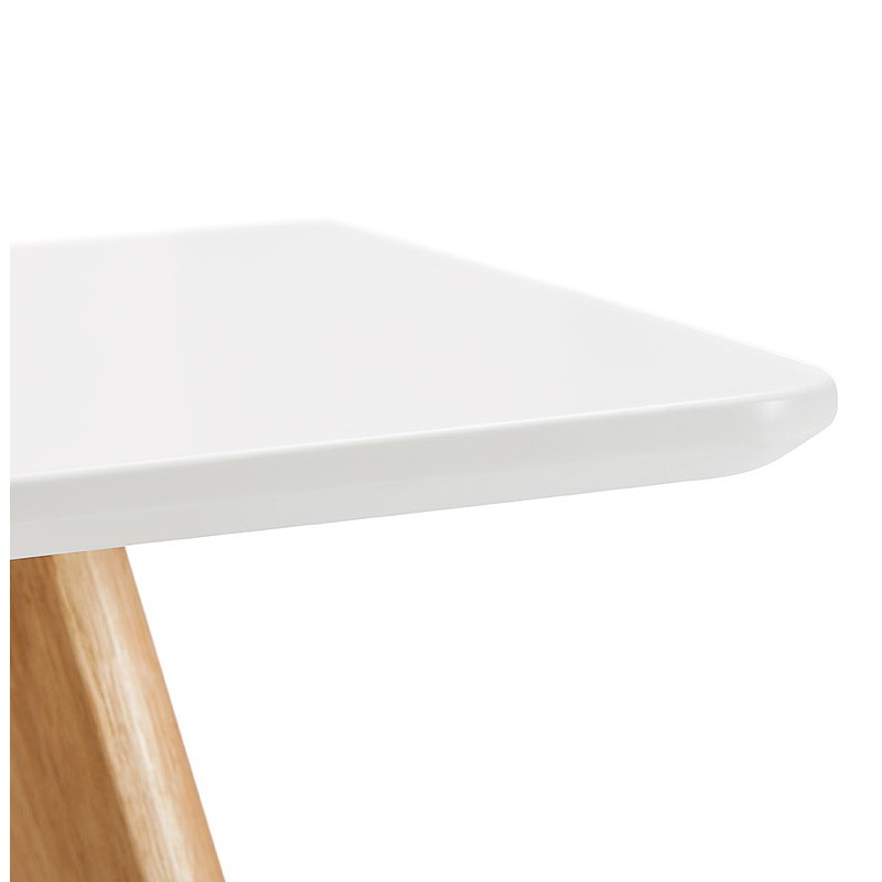 Table à manger design scandinave ou bureau MAYA (120x78x77 cm) (blanc) - image 39975
