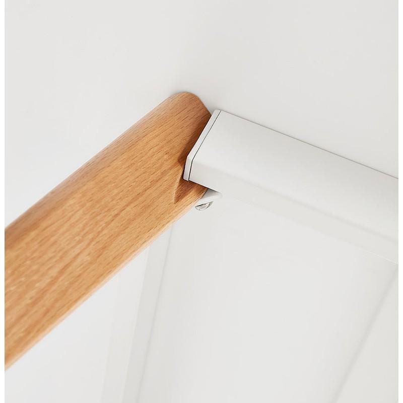 Table à manger design scandinave ou bureau MAYA (120x78x77 cm) (blanc) - image 39977