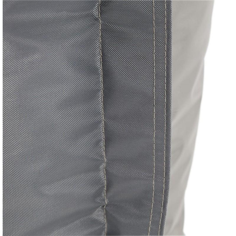 Pouf rectangulaire BUSE en textile (gris foncé) - image 39989