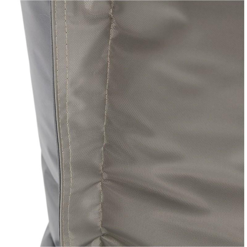 Pouf rectangulaire BUSE en textile (gris foncé) - image 39990