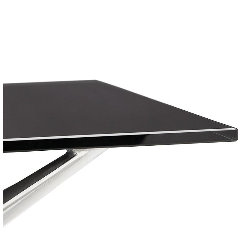 Bureau table de réunion moderne (80x160 cm) AMELIE en verre (noir) - image 40031