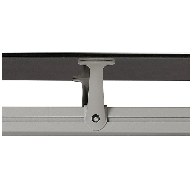 Bureau table de réunion moderne (80x160 cm) AMELIE en verre (noir) - image 40034