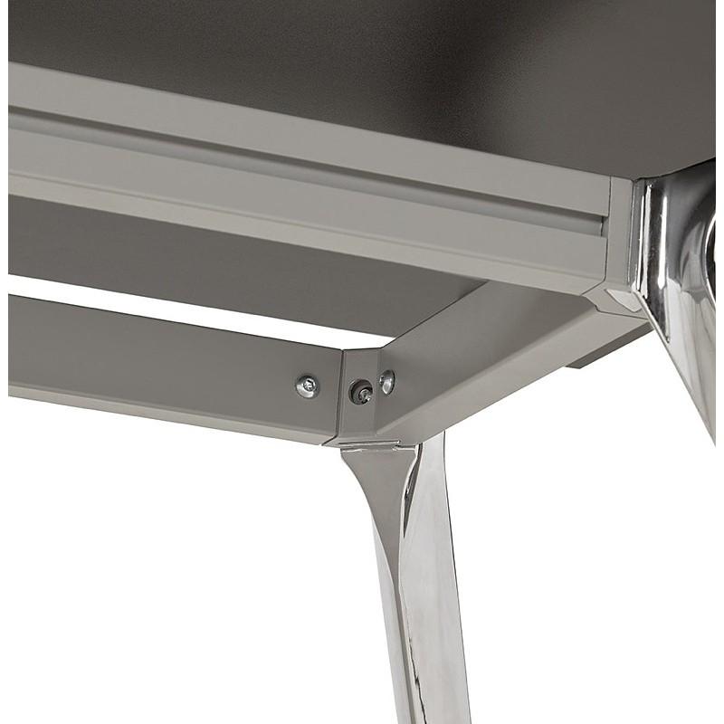 Bureau table de réunion moderne (80x160 cm) AMELIE en bois (noir) - image 40042