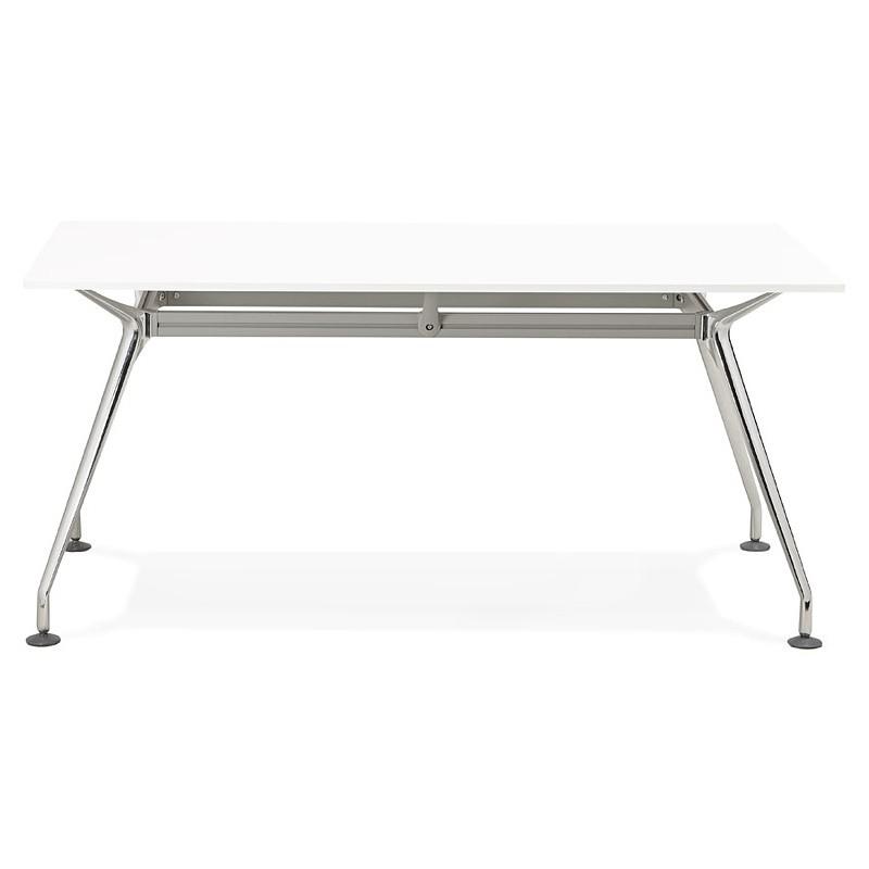 Bureau table de réunion moderne (80x160 cm) AMELIE en bois (blanc) - image 40056