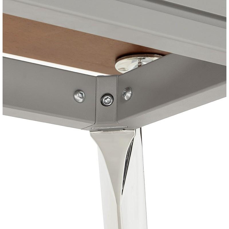 Bureau table de réunion moderne (70x150 cm) NOEMIE en bois plaqué noyer (noyer) - image 40096