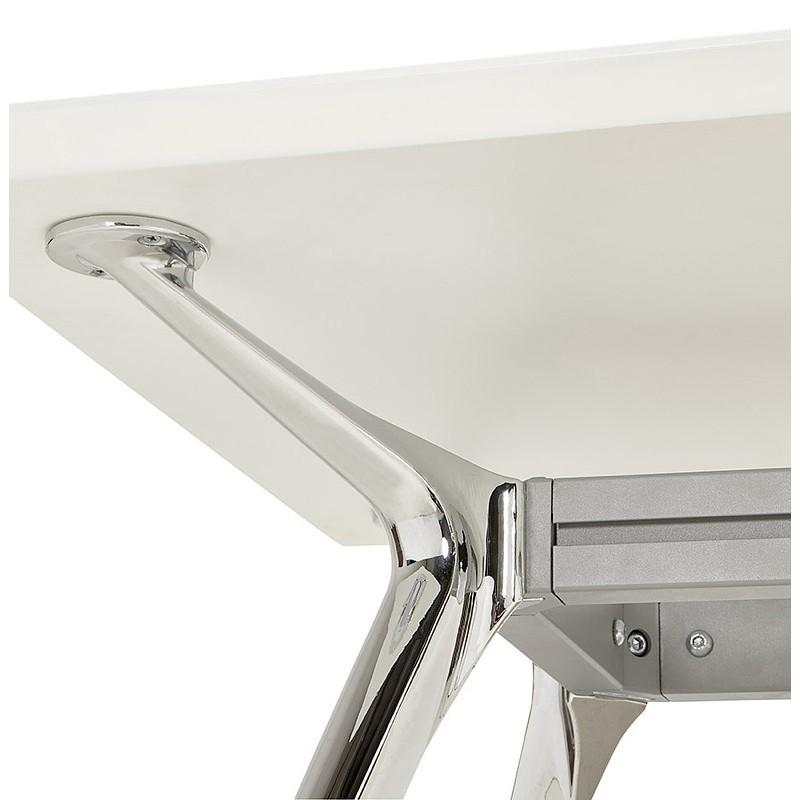 Bureau table de réunion moderne (70x150 cm) NOEMIE en bois (blanc mat) - image 40105