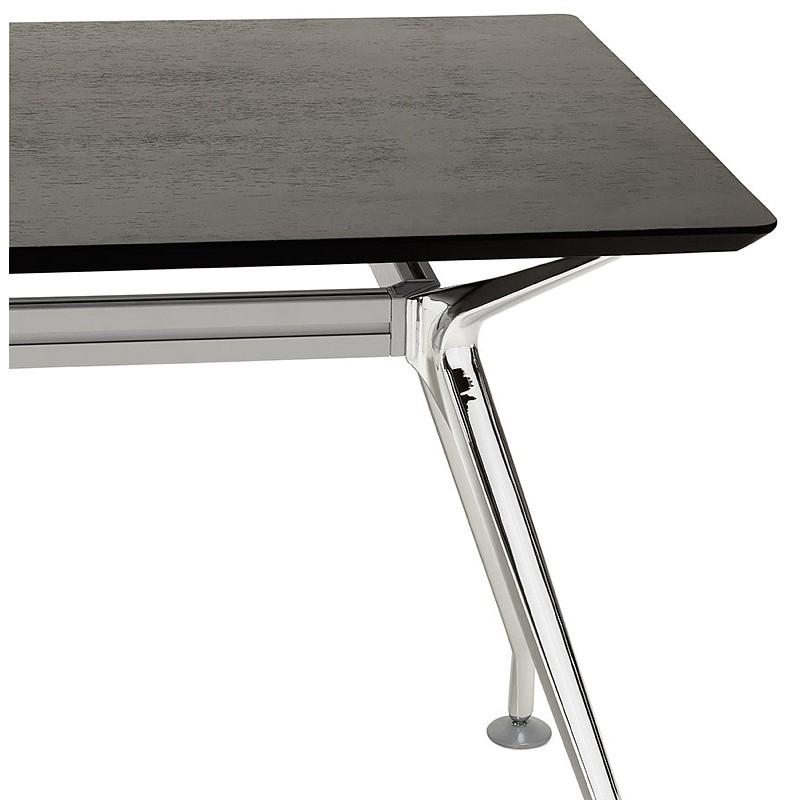 Bureau table de réunion moderne (90x180 cm) LAMA en bois plaqué frêne (noir) - image 40116