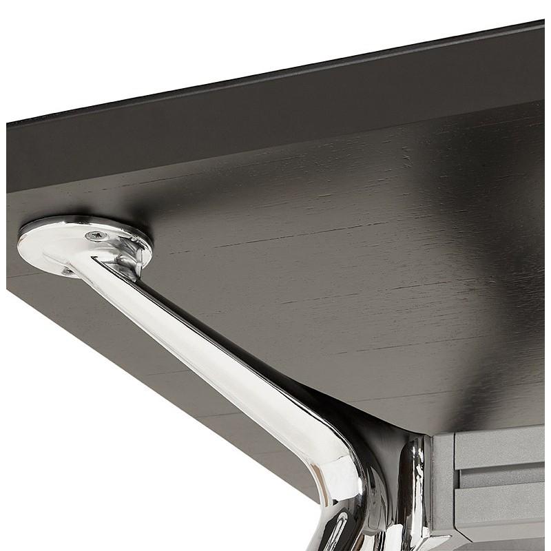 Bureau table de réunion moderne (90x180 cm) LAMA en bois plaqué frêne (noir) - image 40120