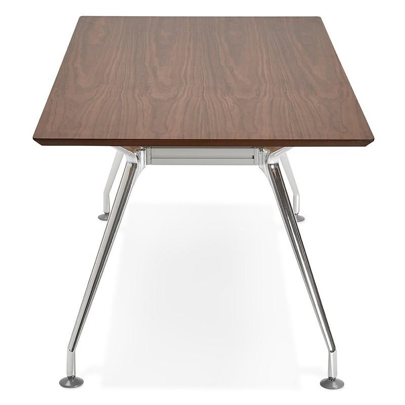 Bureau table de réunion moderne (90x180 cm) LAMA en bois plaqué noyer (noyer) - image 40125