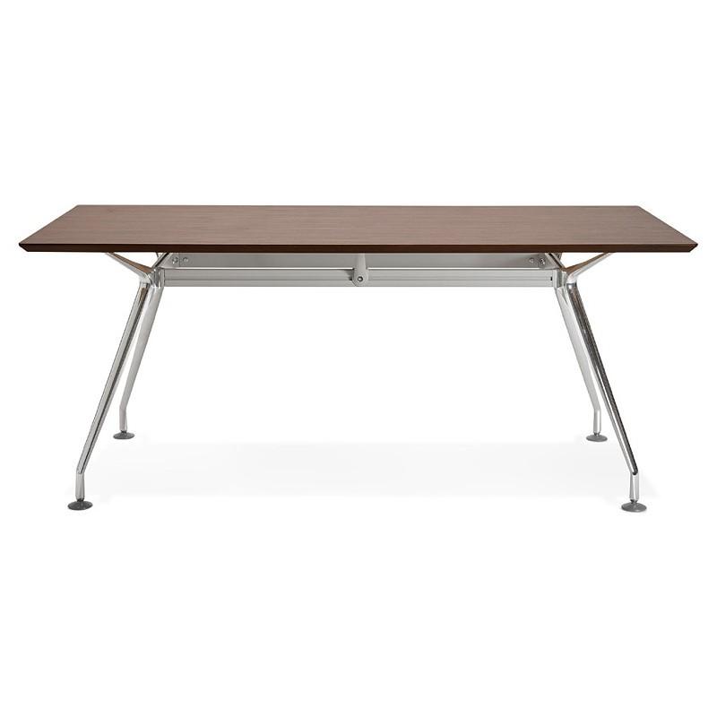 Bureau table de réunion moderne (90x180 cm) LAMA en bois plaqué noyer (noyer) - image 40128