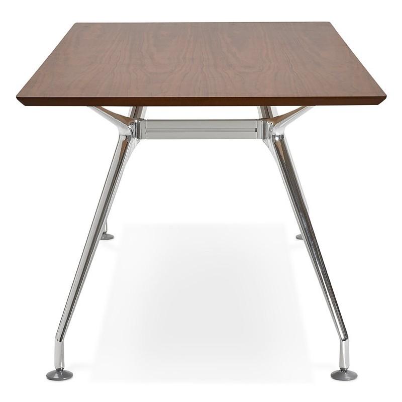 Bureau table de réunion moderne (90x180 cm) LAMA en bois plaqué noyer (noyer) - image 40129