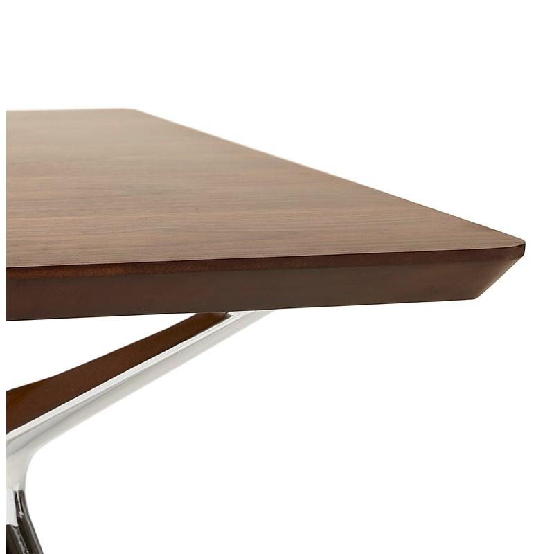 Bureau table de réunion moderne (90x180 cm) LAMA en bois plaqué noyer (noyer) - image 40132