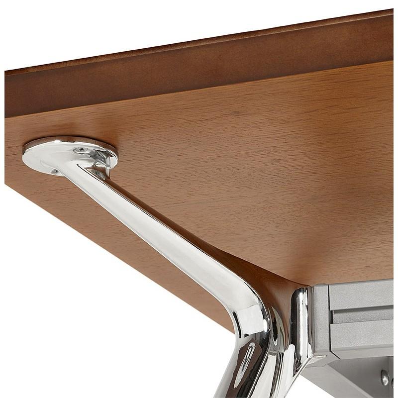 Bureau table de réunion moderne (90x180 cm) LAMA en bois plaqué noyer (noyer) - image 40135