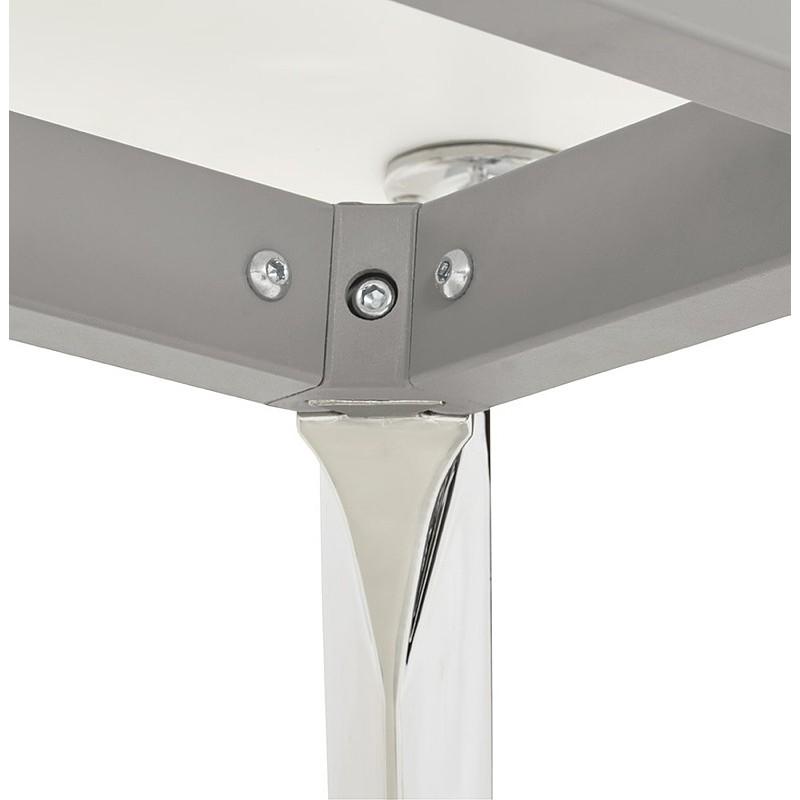 Bureau table de réunion moderne (90x180 cm) LAMA en bois (blanc mat) - image 40150