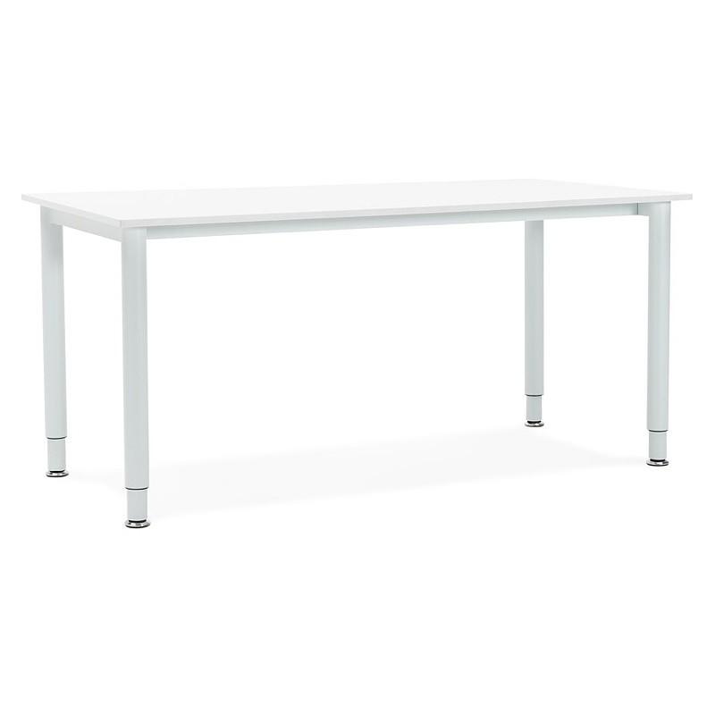 Bureau table de réunion moderne (80x160 cm) LORENZO en bois (blanc) - image 40156