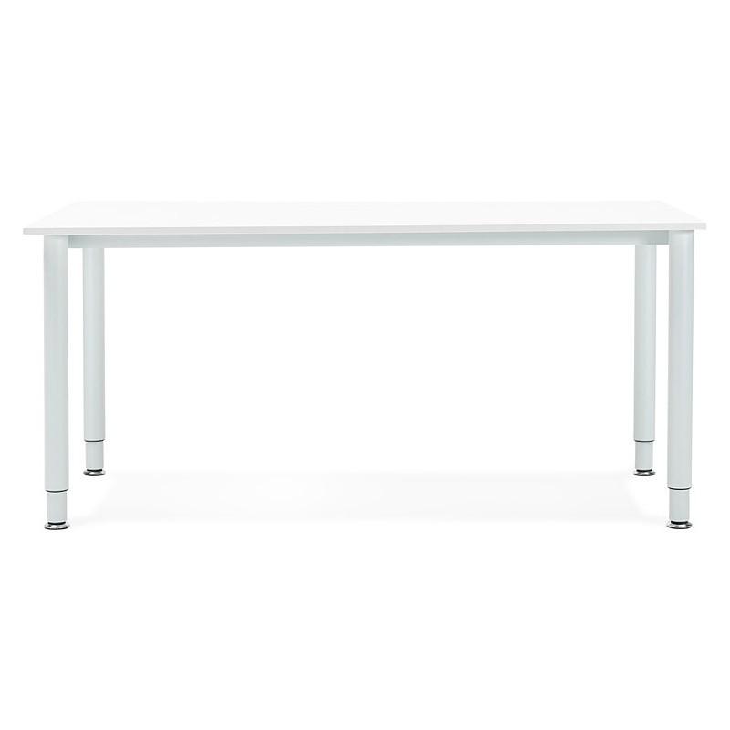 Bureau table de réunion moderne (80x160 cm) LORENZO en bois (blanc) - image 40157