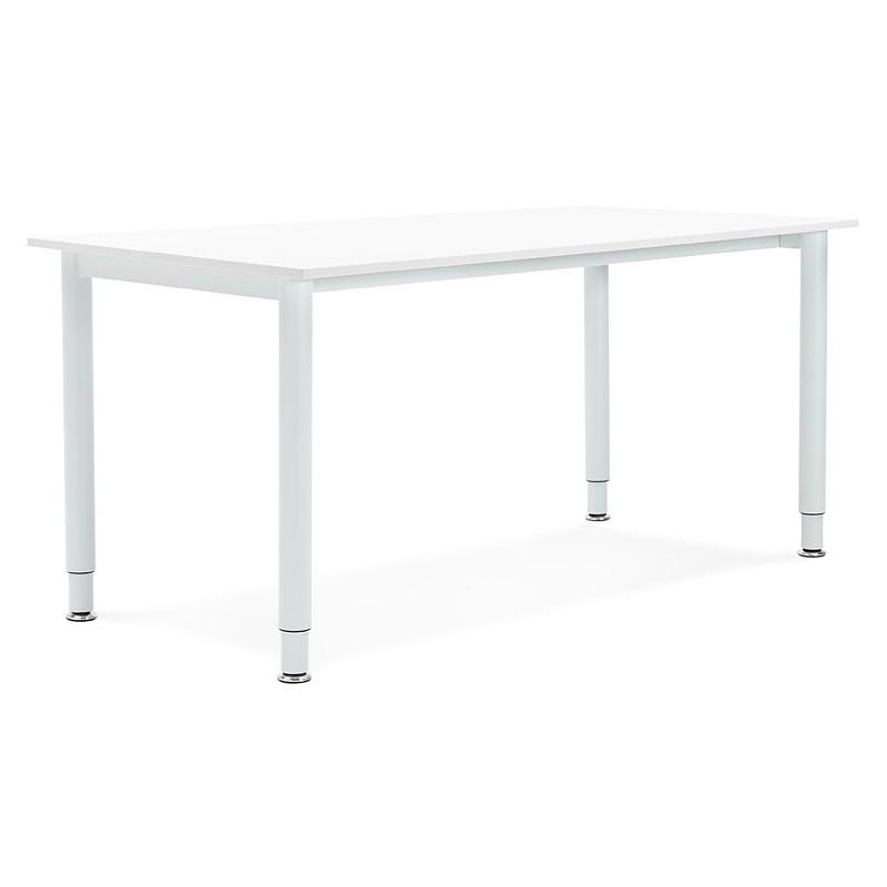 Bureau table de réunion moderne (80x160 cm) LORENZO en bois (blanc) - image 40159